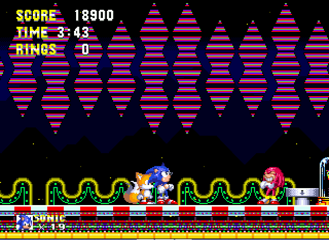 Sonic and Knuckles & Sonic 3 - Unlike Knuckles,I don